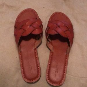 American Eagle braided slide on sandals size 9
